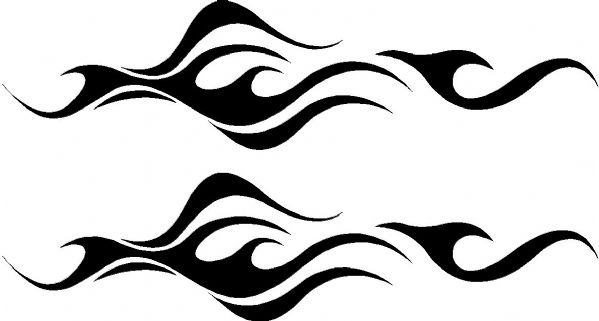Vehicle Graphic Decal FLAME Design 12